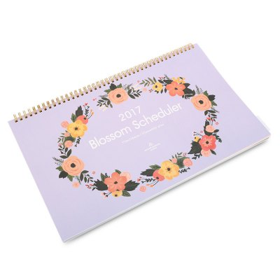 2017 Blossom SchedulerCalendars &amp; Greeting Cards<br>2017 Blossom Scheduler<br><br>Features: Creative<br>Material: Paper<br>Product weight: 0.402 kg<br>Package weight: 0.430 kg<br>Product size (L x W x H): 37.50 x 23.00 x 1.60 cm / 14.76 x 9.06 x 0.63 inches<br>Package size (L x W x H): 38.50 x 24.00 x 2.60 cm / 15.16 x 9.45 x 1.02 inches<br>Package Contents: 1 x 2017 Blossom Scheduler