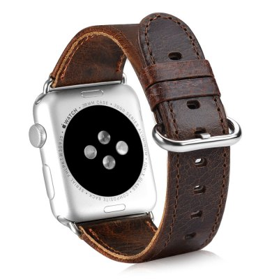OATSBASF Leather WatchbandApple Watch Bands<br>OATSBASF Leather Watchband<br><br>Brand: OATSBASF<br>Color: Deep Brown,Light Brown<br>Function: for Apple Watch 38mm<br>Material: Stainless Steel, Tempered Glass, TPU, Genuine Leather<br>Package Contents: 1 x Watchband, 1 x Screen Film, 1 x Protective Case, 1 x Dust Remover, 1 x Wet Wipes, 1 x Dry Wipes<br>Package size: 19.20 x 12.00 x 3.20 cm / 7.56 x 4.72 x 1.26 inches<br>Package weight: 0.127 kg<br>Product weight: 0.015 kg