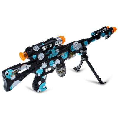 15218B+ Infrared Shooting Assault Rifle ModelClassic Toys<br>15218B+ Infrared Shooting Assault Rifle Model<br><br>Appliable Crowd: Boys<br>Materials: Electronic Components, Plastic<br>Nature: Gun<br>Package Contents: 1 x Rifle Model, 1 x Outer Barrel, 1 x Bipod<br>Package size: 39.00 x 4.60 x 22.30 cm / 15.35 x 1.81 x 8.78 inches<br>Package weight: 0.516 kg<br>Product size: 36.50 x 18.00 x 3.50 cm / 14.37 x 7.09 x 1.38 inches<br>Product weight: 0.281 kg