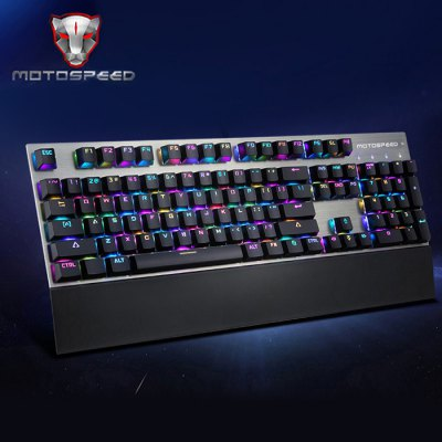 Motospeed CK108 USB Wired Game KeyboardKeyboards<br>Motospeed CK108 USB Wired Game Keyboard<br><br>Anti-ghosting Number: All<br>Brand: Motospeed<br>Cable Length (m): 1.6m<br>Color: Black,White<br>Connection: USB2.0<br>Features: Gaming, Cool<br>Function: Programmable<br>Interface: Wired<br>Keyboard Lifespan ( times): 50 million<br>Keyboard Switch Brand: OUTEMU<br>Keyboard Type: Mechanical Keyboard<br>Material: ABS<br>Model: CK108<br>Package Contents: 1 x Motospeed CK108 Gaming Keyboard<br>Package size (L x W x H): 48.00 x 20.00 x 9.00 cm / 18.9 x 7.87 x 3.54 inches<br>Package weight: 1.5100 kg<br>Product size (L x W x H): 44.50 x 14.80 x 3.40 cm / 17.52 x 5.83 x 1.34 inches<br>Product weight: 0.9100 kg<br>Response Speed: 3ms<br>Suitable for: Computer<br>System support: Linux, IOS, Android, Windows 10, Mac OS, Windows XP, Windows Vista, Windows 2000, Windows 2003, Windows 7, Windows, Windows 95, Windows 98, Windows 98SE, Windows ME, Windows NT, Windows 8<br>Type: Keyboard