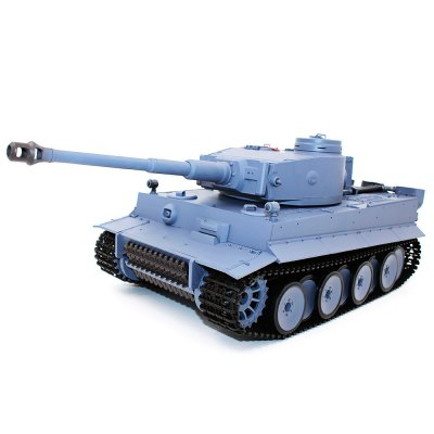 HENG LONG 3818 - 1 German Tiger I 1:16 RC Tank - RTRRC Cars<br>HENG LONG 3818 - 1 German Tiger I 1:16 RC Tank - RTR<br><br>Brand: Heng Long<br>Detailed Control Distance: About 30m<br>Drive Type: Other<br>Features: Radio Control<br>Motor Type: Brushed Motor<br>Package Contents: 1 x RC Tank, 1 x Transmitter, 1 x 7.4V 1800mAh LiPo Battery, 1 x Charger, 1 x Pack of BB Bullets, 1 x Pack of Accessories, 1 x Chinese-English Manual<br>Package size (L x W x H): 55.50 x 25.50 x 27.50 cm / 21.85 x 10.04 x 10.83 inches<br>Package weight: 4.3000 kg<br>Product size (L x W x H): 54.00 x 24.00 x 26.00 cm / 21.26 x 9.45 x 10.24 inches<br>Product weight: 3.7500 kg<br>Proportion: 1:16<br>Racing Time: About 30mins<br>Remote Control: 2.4GHz Wireless Remote Control<br>Transmitter Power: 6 x 1.5V AA battery (not included)<br>Type: Tank
