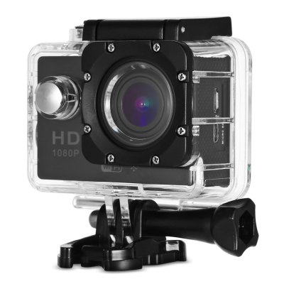 Gearbest CS5000H WiFi Action Camera Full HD 1080P  -  EU PLUG  BLACK