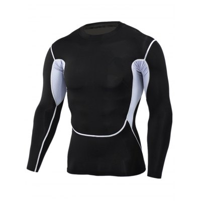 Male Splicing T-shirt Compression Pants Fitness Training SuitWeight Lifting Clothes<br>Male Splicing T-shirt Compression Pants Fitness Training Suit<br><br>Features: Breathable, High elasticity, Quick Dry<br>Gender: Men<br>Material: Polyester<br>Package Content: 1 x Tops, 1 x Pants<br>Package size: 30.00 x 25.00 x 2.00 cm / 11.81 x 9.84 x 0.79 inches<br>Package weight: 0.310 kg<br>Product weight: 0.250 kg<br>Size: 2XL,3XL,L,M,XL<br>Types: Suit