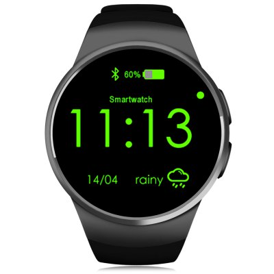 KingWear KW18 Smartwatch PhoneSmart Watch Phone<br>KingWear KW18 Smartwatch Phone<br><br>Additional Features: 2G, Alarm, Bluetooth, Calendar, People, Waterproof, MP3<br>Battery: 340mAh Built-in<br>Bluetooth Version: V4.0<br>Brand: KingWear<br>Camera type: No camera<br>Cell Phone: 1<br>Compatible OS: IOS, Android<br>CPU: MTK2502<br>English Manual : 1<br>External Memory: TF card up to 16GB (not included)<br>Frequency: GSM850/900/1800/1900MHz<br>Functions: Remote Camera, Anti-lost alert, Heart rate measurement, Message, Pedometer, Sleep monitoring, Sedentary reminder<br>Languages: English, French, Spanish, Russian, German, Italian,  Portuguese<br>Music format: MP3<br>Network type: GSM<br>Package size: 12.00 x 12.00 x 9.00 cm / 4.72 x 4.72 x 3.54 inches<br>Package weight: 0.2700 kg<br>Picture format: PNG, JPEG<br>Product size: 5.50 x 4.50 x 1.39 cm / 2.17 x 1.77 x 0.55 inches<br>Product weight: 0.0680 kg<br>RAM: 64MB<br>ROM: 128MB<br>Screen resolution: 240 x 240<br>Screen size: 1.3 inch<br>Screen type: IPS, Capacitive<br>SIM Card Slot: Single SIM(Micro SIM slot)<br>Type: Watch Phone<br>USB Cable: 1<br>Video format: MP4<br>Wireless Connectivity: GSM, Bluetooth