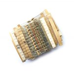 Practical DIY 1 / 4W Ceramic Metal Film Resistors Assortment Set with 20 Different Kinds Design - 400PCS