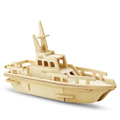 Robotime Yacht 3D Jigsaw Puzzle Woodcraft Assemble Toy Educational Game Kids Gift