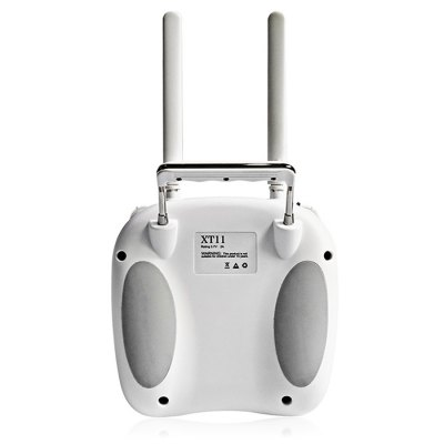 Flymind XT11 2.4GHz RC Transmitter Receiver SetRadios &amp; Receiver<br>Flymind XT11 2.4GHz RC Transmitter Receiver Set<br><br>Brand: Flymind<br>Channel: 11<br>Detailed Control Distance: 800m<br>Mode: Customizable, Mode 2 (Left Hand Throttle)<br>Package Contents: 1 x XT11 Transmitter, 1 x XR11 Receiver<br>Package size (L x W x H): 21.00 x 18.00 x 13.00 cm / 8.27 x 7.09 x 5.12 inches<br>Package weight: 0.5300 kg<br>Product size (L x W x H): 19.00 x 16.60 x 11.00 cm / 7.48 x 6.54 x 4.33 inches<br>Product weight: 0.4280 kg<br>Remote Control: 2.4GHz Wireless Radio Control<br>Transmitter Power: Built-in rechargeable battery<br>Type: Transmitter Receiver Set