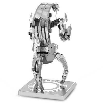 Destroyer Droid Metal 3D PuzzleModel &amp; Building Toys<br>Destroyer Droid Metal 3D Puzzle<br><br>Gender: Unisex<br>Materials: Metal<br>Package Contents: 1 x 3D Puzzle Set, 1 x English Manual<br>Package size: 17.00 x 11.00 x 0.20 cm / 6.69 x 4.33 x 0.08 inches<br>Package weight: 0.0790 kg<br>Stem From: Europe and America<br>Style: Figure Statue<br>Theme: Fantasy and Sci-fi,Movie and TV<br>Type: 3D Puzzle
