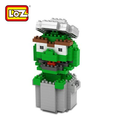 LOZ 240Pcs M - 9121 Sesame Street Oscar The Grouch Building Block Educational Toy for Brain Thinking