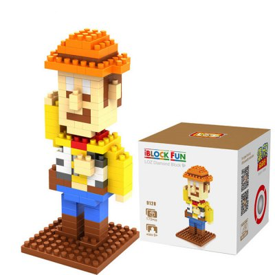 LOZ 170Pcs M - 9128 Toy Story Woody Building Block Educational Toy for Brain ThinkingBlock Toys<br>LOZ 170Pcs M - 9128 Toy Story Woody Building Block Educational Toy for Brain Thinking<br><br>Age: 9 Years+<br>Applicable gender: Unisex<br>Brand: LOZ<br>Character Name: Woody<br>Design Style: Figure Statue<br>Features: DIY<br>Material: ABS<br>Package Contents: 170 x Module, 1 x User Manual<br>Package size (L x W x H): 7.50 x 7.50 x 7.50 cm / 2.95 x 2.95 x 2.95 inches<br>Package weight: 0.0550 kg<br>Product Model: M - 9128<br>Product prototype: Toy Story<br>Puzzle Style: 3D Puzzle<br>Small Parts : Yes<br>Type: Building Blocks<br>Washing: Yes