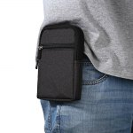 6 inches Denim Mobile Phone Pouch with Hanging Buckle