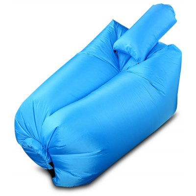 Vente flash-Ultralight Inflatable Lazy Sofa with Pillow Beach Chair for Leisure Activities  - BLUE