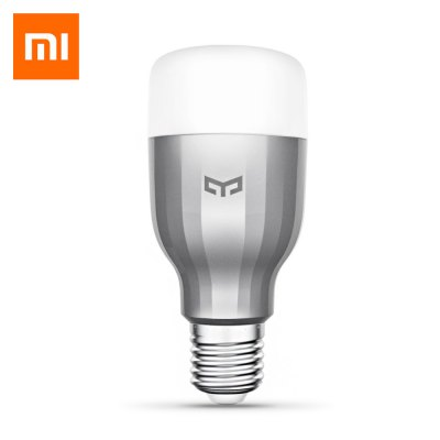 Xiaomi Yeelight AC220V RGBW E27 Smart LED BulbSmart Lighting<br>Xiaomi Yeelight AC220V RGBW E27 Smart LED Bulb<br><br>Available Light Color: RGBW, RGBW<br>Body Color: Silver, Silver<br>Brand: Xiaomi<br>Features: WiFi, Remote Control, Dimming<br>Function: Home Lighting, Commercial Lighting, Studio and Exhibition Lighting, Commercial Lighting, Home Lighting, Studio and Exhibition Lighting<br>Holder: E27<br>Lifespan: 11 years<br>Luminous Flux: 600LM<br>Output Power: 9W<br>Package Contents: 1 x Xiaomi Yeelight Color LED Bulb, 1 x Xiaomi Yeelight Color LED Bulb<br>Package size (L x W x H): 13.00 x 6.50 x 6.50 cm / 5.12 x 2.56 x 2.56 inches, 13.00 x 6.50 x 6.50 cm / 5.12 x 2.56 x 2.56 inches<br>Package weight: 0.2500 kg, 0.2500 kg<br>Product size (L x W x H): 12.00 x 5.50 x 5.50 cm / 4.72 x 2.17 x 2.17 inches, 12.00 x 5.50 x 5.50 cm / 4.72 x 2.17 x 2.17 inches<br>Product weight: 0.1450 kg, 0.1450 kg<br>Sheathing Material: Plastic, Aluminum Alloy, Plastic, Aluminum Alloy<br>Voltage (V): AC 220