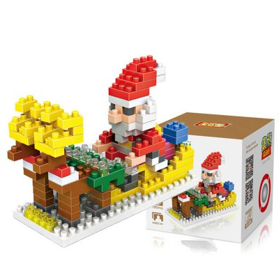 LOZ 180Pcs M - 9125 Santa Clause Building Block Educational Toy for Brain Thinking