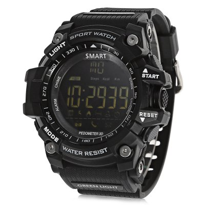 AIWATCH XWATCH Bluetooth SmartwatchSmart Watches<br>AIWATCH XWATCH Bluetooth Smartwatch<br><br>Brand: AiWatch<br>Built-in chip type: SI-BW03<br>Bluetooth Version: Bluetooth 4.0<br>Waterproof: Yes<br>IP rating: IP67 ( or 50ATM )<br>Bluetooth calling: Phone call reminder<br>Messaging: Message reminder<br>Health tracker: Pedometer<br>Remote control function: Remote Camera<br>Notification: Yes<br>Notification type: Facebook,QQ,Skype,Twitter,Wechat,WhatsApp<br>Groups of alarm: 3<br>Alert type: Ring<br>Other Function: Alarm,Stopwatch<br>Screen: LCD<br>Screen size: 1.12 inch<br>Operating mode: Press button<br>Type of battery: 1 x CR2032 battery  ( included )<br>Battery Capacty: 210mAh<br>Standby time: 12 months<br>People: Male table<br>Shape of the dial: Round<br>Case material: TPU<br>Band material: TPU<br>Compatible OS: Android,IOS<br>Compatability: Android 4.3 / iOS 7.0 and above systems<br>Available Color: Black,Blue,Gold,Red<br>Dial size: 5.50 x 5.50 x 1.80 cm / 2.17 x 2.17 x 0.71 inches<br>Band size: 25.00 x 2.2 cm / 9.84 x 0.37 inches<br>Wearing diameter: 170-200mm<br>Product size (L x W x H): 25.00 x 5.50 x 1.80 cm / 9.84 x 2.17 x 0.71 inches<br>Package size (L x W x H): 10.00 x 10.00 x 7.50 cm / 3.94 x 3.94 x 2.95 inches<br>Product weight: 0.0700 kg<br>Package weight: 0.1710 kg<br>Package Contents: 1 x AIWATCH XWATCH Smartwatch, 1 x English Manual