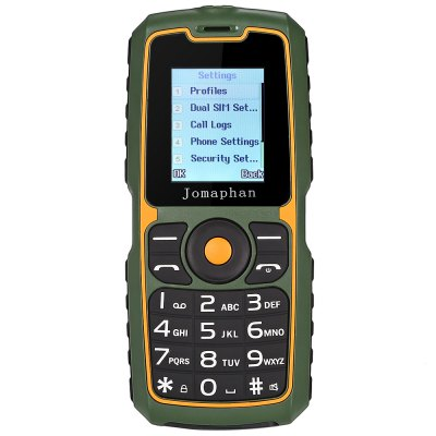 Jomaphan XP9900 Quad Band Unlocked PhoneFeatured Phones<br>Jomaphan XP9900 Quad Band Unlocked Phone<br><br>Back-camera: 0.08MP<br>Battery: 1 x 3800mAh<br>Bluetooth: Yes<br>Brand: JOMAPHAN<br>Camera type: Single camera<br>Cell Phone: 1<br>English Manual : 1<br>External Memory: TF card up to 32GB (not included)<br>Frequency: GSM 850/900/1800/1900MHz<br>Languages: English, French, Spanish, Portuguese, Malay, Indonesian, Vietnamese, Russian, Arabic, Persian, Thai, Hindi<br>Micro USB Slot: Yes<br>Microphone: Supported<br>Music format: MP3<br>Network type: GSM<br>Package size: 15.00 x 10.00 x 6.80 cm / 5.91 x 3.94 x 2.68 inches<br>Package weight: 0.2700 kg<br>Picture format: JPEG<br>Power Adapter: 1<br>Product size: 12.95 x 5.67 x 2.25 cm / 5.1 x 2.23 x 0.89 inches<br>Product weight: 0.0960 kg<br>RAM: 32MB<br>ROM: 32MB<br>Screen size: 1.77 inch<br>Screwdriver: 1<br>SIM Card Slot: Dual SIM, Dual Standby<br>Speaker: Supported<br>TF card slot: Yes<br>Type: Bar Phone<br>USB Cable: 1<br>Video format: MP4