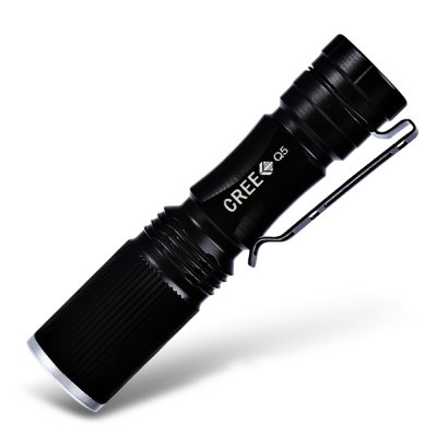 Cree XPE Q5 600Lm Zoomable LED Flashlight 1 x AA / 14500