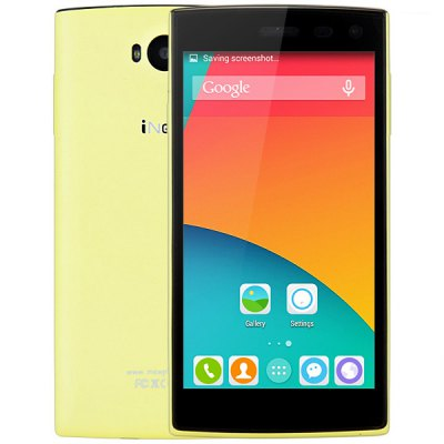 5.0 inch iNew V1 Android 4.4 3G Smartphone  –  YELLOW