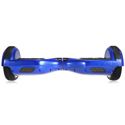 H6 6.5 inch 2 Wheels Bluetooth Music Smart Self Balancing ScooterScooters and Wheels<br>H6 6.5 inch 2 Wheels Bluetooth Music Smart Self Balancing Scooter<br><br>Battery Capacity: 4400mAh<br>Battery Voltage: 36V<br>Bluetooth: Yes<br>Charger type: EU plug<br>Charging Time: 2-3 hours<br>Color: Blue<br>For: Teenagers, Office Workers<br>Low Battery Warning: When battery is lower than 10 percent there will be warning sound to remind you<br>Max Payload: 100kg<br>Maximum Grade Ability: 30 degrees<br>Maximum Mileage: 20km<br>Maximum Speed (km/h): 10km/h<br>Mileage (depends on road and driver weight): 15-20km<br>Motor Rated Power: 2 x 350W<br>Package Contents: 1 x Smart Self Balancing Scooter, 1 x Charger, 1 x English User Manual, 1 x Carrying Bag<br>Package size (L x W x H): 65.00 x 23.00 x 24.00 cm / 25.59 x 9.06 x 9.45 inches<br>Package weight: 11.4000 kg<br>Permissible Gradient (depends on your weight): 15-30 degree<br>Product size (L x W x H): 59.00 x 18.80 x 17.50 cm / 23.23 x 7.4 x 6.89 inches<br>Product weight: 9.1650 kg<br>Speed Limit Warning: Up to 10km/h<br>Tire Diameter: 6.5 inches<br>Type: Self Balancing Scooter<br>Version: V3.0<br>Working Temperature: - 15 - 50 Deg.C