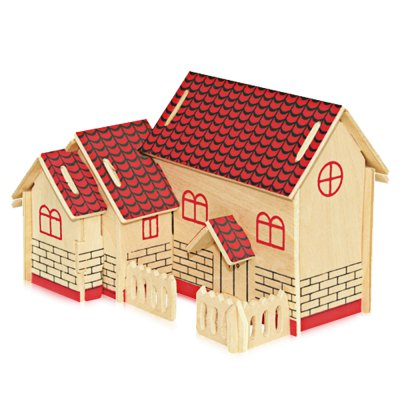 Wooden Music Box Villa Shape