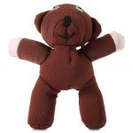 Mr Bean Teddy Bear Figure 12cm 3D Model Plush Toy Animals Stuffed Doll Sucker Pendant