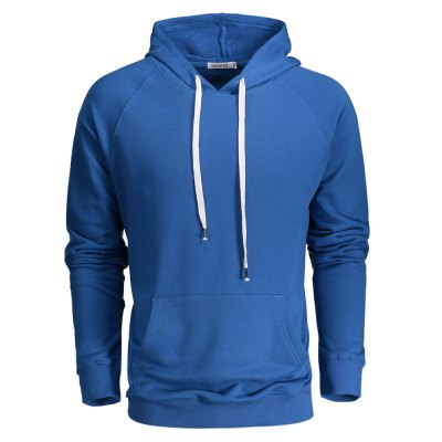 ZANSTYLE Blue Hoodie for Men