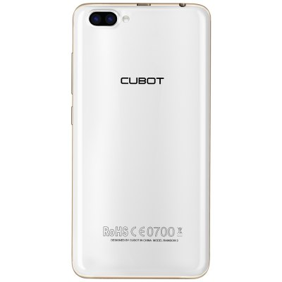 CUBOT RAINBOW 2 3G SmartphoneCell phones<br>CUBOT RAINBOW 2 3G Smartphone<br><br>2G: GSM 850/900/1800/1900MHz<br>3G: WCDMA 900/1900/2100MHz<br>Additional Features: 3G, Alarm, Bluetooth, Browser, Calculator, Calendar, GPS, MP3, MP4, People, Wi-Fi<br>Auto Focus: Yes<br>Back Case : 1<br>Back-camera: 8.0MP ( SW 13.0MP ) + 2.0MP<br>Battery Capacity (mAh): 2350mAh Built-in<br>Bluetooth Version: V4.0<br>Brand: CUBOT<br>Camera type: Triple cameras<br>Cell Phone: 1<br>Cores: 1.3GHz, Quad Core<br>CPU: MTK6580<br>English Manual : 1<br>External Memory: TF card up to 256GB<br>Flashlight: Yes<br>Front camera: 2.0MP ( SW 5.0MP)<br>Games: Android APK<br>I/O Interface: Micro USB Slot, TF/Micro SD Card Slot, 3.5mm Audio Out Port, Speaker, Micophone, 2 x Micro SIM Card Slot<br>Language: Japanese, Traditional/Simplified Chinese, Indonesian, Malay, Catalan, Cezch, Danish, German, English, Spanish, Filipino,French, Croatian, Italian, Magyar, Dutch, Polish, Portuguese, Romanian, Slovensc<br>Music format: WAV, MP3, AMR<br>Network type: GSM+WCDMA<br>OS: Android 7.0<br>OTA: Yes<br>Package size: 17.00 x 18.00 x 5.80 cm / 6.69 x 7.09 x 2.28 inches<br>Package weight: 0.4230 kg<br>Picture format: BMP, PNG, JPEG, GIF<br>Power Adapter: 1<br>Product size: 14.40 x 7.20 x 0.83 cm / 5.67 x 2.83 x 0.33 inches<br>Product weight: 0.1560 kg<br>RAM: 1GB RAM<br>ROM: 16GB<br>Screen resolution: 1280 x 720 (HD 720)<br>Screen size: 5.0 inch<br>Screen type: IPS<br>Sensor: Accelerometer,Ambient Light Sensor,Gravity Sensor,Proximity Sensor<br>Service Provider: Unlocked<br>SIM Card Slot: Dual SIM, Dual Standby<br>SIM Card Type: Micro SIM Card<br>Touch Focus: Yes<br>Type: 3G Smartphone<br>USB Cable: 1<br>Video format: 3GP, MPEG4<br>Video recording: Yes<br>WIFI: 802.11b/g/n wireless internet<br>Wireless Connectivity: Bluetooth 4.0, A-GPS, GSM, 3G, GPS, WiFi