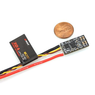 EMAX RS2205 2300KV Brushless Motor BLHeli 30A ESC ComboMotor<br>EMAX RS2205 2300KV Brushless Motor BLHeli 30A ESC Combo<br><br>Brand: EMAX<br>Burst Current: 40A<br>Configuration: 12N 14P<br>Continuous Current: 30A<br>CW / CCW: CCW,CW<br>Firmware: BLHeli<br>Functions: Multishot, Oneshot125<br>Input Voltage: 2 - 4S<br>KV: 2300<br>Maximum Thrust: 1024g<br>Model: RS2205<br>Motor Dimensions: 27.9 x 31.7mm<br>Motor Type: Brushless Motor<br>No. of Cells: 3 - 4S LiPo<br>Package Contents: 4 x Motor, 4 x ESC, 1 x L-wrench, 3 x Pack of Screws, 4 x Nut<br>Package size (L x W x H): 15.00 x 12.00 x 4.50 cm / 5.91 x 4.72 x 1.77 inches<br>Package weight: 0.2350 kg<br>Product size (L x W x H): 14.00 x 11.00 x 4.00 cm / 5.51 x 4.33 x 1.57 inches<br>Product weight: 0.2000 kg<br>Shaft Diameter: 3mm<br>Stator Diameter: 22mm<br>Stator Length: 5mm<br>Type: ESC, Motor Set