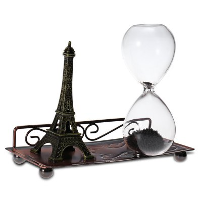 Magnetic Iron Sand Hourglass Eiffel Tower Desktop Set