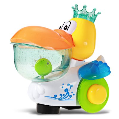 Baby electric musical walking duck toy with flashing light...