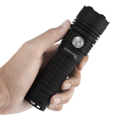 Convoy BD06 Rechargeable LED FlashlightLED Flashlights<br>Convoy BD06 Rechargeable LED Flashlight<br><br>Battery Included or Not: No<br>Battery Quantity: 1<br>Battery Type: 18650, 26650<br>Beam Distance: 50-100m<br>Body Material: Aerospace-grade Aluminum Alloy<br>Brand: Convoy<br>Charger Input Voltage: AC 110-220V<br>Charger Output Voltage: DC 5V<br>Color Temperature: U2-1A 6500-7000K<br>Emitters: Cree XM-L2 U2, Cree XM-L2 T6<br>Emitters Quantity: 1<br>Feature: Waterproof, Tail Stand, Reverse Polarity Protection, Power Indicator, Low-voltage Warning<br>Flashlight size: Mid size<br>Flashlight Type: Handheld<br>Function: Hiking, Walking, Self-defense, Camping, EDC, Household Use, Night Riding<br>Lens: Toughened Ultra-clear Glass Lens with Anti-reflective Coating<br>Light color: Cool White<br>Lumens Range: 500-1000Lumens<br>Luminous Flux: 900LM<br>Mode: 12 Mode Groups<br>Mode Memory: Yes<br>Model: BD06<br>Package Contents: 1 x Convoy BD06 LED Flashlight, 1 x Charging Connector, 1 x USB Cable, 1 x EU Adapter, 2 x 18650 Battery Holder<br>Package size (L x W x H): 18.00 x 6.00 x 7.00 cm / 7.09 x 2.36 x 2.76 inches<br>Package weight: 0.3200 kg<br>Power Source: Battery<br>Product size (L x W x H): 14.40 x 4.18 x 4.18 cm / 5.67 x 1.65 x 1.65 inches<br>Product weight: 0.1770 kg<br>Rechargeable: Yes<br>Reflector: Aluminum Smooth Reflector<br>Switch Location: Side Switch<br>Waterproof Standard: IPX-7 Standard Waterproof<br>Working Voltage: 3.7-5V