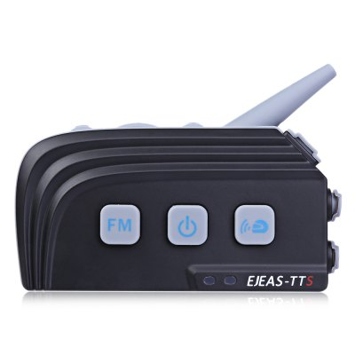 EJEAS TTS Motorcycle Helmet Bluetooth Intercom HeadsetMotorcycle Intercoms<br>EJEAS TTS Motorcycle Helmet Bluetooth Intercom Headset<br><br>Apply To Car Brand: Universal<br>Bluetooth Version: Bluetooth V4.0<br>Brand: EJEAS<br>Compatible with: Universal<br>Operation distance: 10m<br>Package Contents: 1 x EJEAS TTS Intercom, 1 x Headset, 1 x Soft Line Microphone with Felted Adhesive Pad, 1 x L - bend USB Cable, 1 x Holder, 1 x Stick Holder, 2 x Hook, 1 x Multilingual Operating Instruction ( English<br>Package size (L x W x H): 18.00 x 11.10 x 7.00 cm / 7.09 x 4.37 x 2.76 inches<br>Package weight: 0.4000 kg<br>Product size (L x W x H): 8.40 x 4.20 x 1.80 cm / 3.31 x 1.65 x 0.71 inches<br>Product weight: 0.0630 kg<br>Standby time: 300 hours<br>Talk time: 12 hours<br>Working Voltage: 3.3V - 4.2V