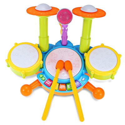 Kid Preschool Simulation Musical Jazz DrumKids Musical Instrument<br>Kid Preschool Simulation Musical Jazz Drum<br><br>Completeness: Semi-finished Product<br>Gender: Unisex<br>Materials: Other, Plastic<br>Nature: Drum<br>Package Contents: 1 x Musical Drum Set<br>Package size: 40.00 x 21.00 x 17.00 cm / 15.75 x 8.27 x 6.69 inches<br>Package weight: 1.0850 kg<br>Product size: 32.50 x 23.00 x 15.00 cm / 12.8 x 9.06 x 5.91 inches<br>Product weight: 0.8070 kg<br>Type: Children Learning and Exercising Type