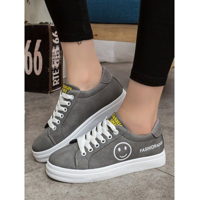 Female Letter Print Lace Up Rubber Sole Skateboarding ShoesWomens Sneakers<br>Female Letter Print Lace Up Rubber Sole Skateboarding Shoes<br><br>Color: Black,Gray,Pink<br>Contents: 1 x Pair of Shoes<br>Materials: PU, Rubber<br>Package Size ( L x W x H ): 30.00 x 20.00 x 10.00 cm / 11.81 x 7.87 x 3.94 inches<br>Package Weights: 1.2000kg<br>Size: 35,36,37,38,39,40<br>Type: Skateboarding Shoes