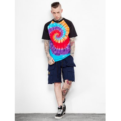 Male Tie-dyed Spiral Gradient-color Cotton Short Sleeve T-shirtMens Short Sleeve Tees<br>Male Tie-dyed Spiral Gradient-color Cotton Short Sleeve T-shirt<br><br>Material: Cotton<br>Neckline: Round Neck<br>Package Content: 1 x Male T-shirt<br>Package size: 35.00 x 15.00 x 2.00 cm / 13.78 x 5.91 x 0.79 inches<br>Package weight: 0.2500 kg<br>Product weight: 0.2000 kg<br>Season: Summer, Spring, Autumn<br>Size: L,M,S,XL,XXL<br>Sleeve Length: Short Sleeves<br>Style: Fashion, Casual