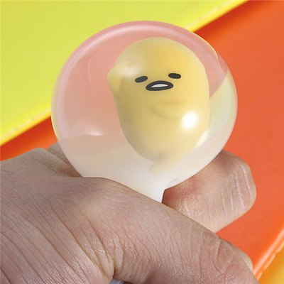 Flexible Yolk Figure Ball Vent ToySquishy toys<br>Flexible Yolk Figure Ball Vent Toy<br><br>Features: Cartoon<br>Materials: Plastic, Rubber<br>Package Contents: 1 x Venting Stress Ball<br>Package size: 8.00 x 8.00 x 8.50 cm / 3.15 x 3.15 x 3.35 inches<br>Package weight: 0.0920 kg<br>Product size: 5.00 x 5.00 x 7.00 cm / 1.97 x 1.97 x 2.76 inches<br>Product weight: 0.0770 kg<br>Series: Lifestyle<br>Theme: Movie and TV