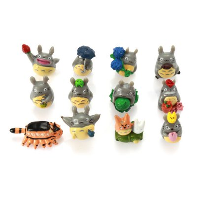12pcs Hot Anime My Neighbor Totoro Characteristic Figure Models Toy