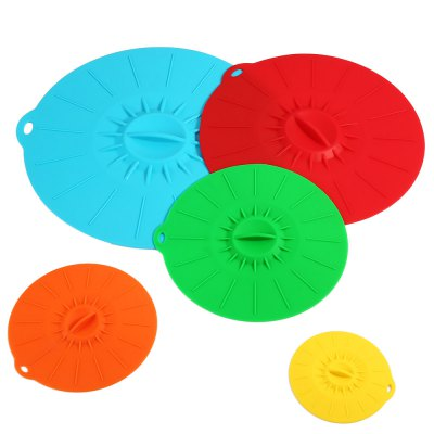 5PCS Silicone Suction Lid Food Cover