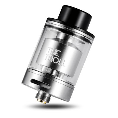 Original Wotofo The Troll RTA AtomizerRebuildable Atomizers<br>Original Wotofo The Troll RTA Atomizer<br><br>Brand: Wotofo<br>Material: Stainless Steel, Glass<br>Model: The Troll<br>Overall Diameter: 24mm<br>Package Contents: 1 x Wotofo The Troll RTA, 1 x Extra Glass Tank, 1 x English User Manual, 1 x Accessory Bag<br>Package size (L x W x H): 9.20 x 5.60 x 3.70 cm / 3.62 x 2.2 x 1.46 inches<br>Package weight: 0.2000 kg<br>Product size (L x W x H): 4.10 x 2.40 x 2.40 cm / 1.61 x 0.94 x 0.94 inches<br>Rebuildable Atomizer: RBA,RTA<br>Tank Capacity: 5.0ml<br>Thread: 510<br>Type: Rebuildable Tanks, Rebuildable Atomizer