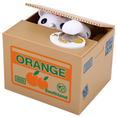 Itazura Piggy Bank Stealing Coin Cat BankNovelty Toys<br>Itazura Piggy Bank Stealing Coin Cat Bank<br><br>Available Color: Gray<br>Material: ABS<br>Package Contents: 1 x Stealing Money Cat Piggy Bank<br>Package size (L x W x H): 15.00 x 12.50 x 12.60 cm / 5.91 x 4.92 x 4.96 inches<br>Package weight: 0.4300 kg<br>Product size (L x W x H): 12.00 x 10.50 x 9.60 cm / 4.72 x 4.13 x 3.78 inches<br>Product weight: 0.3580 kg