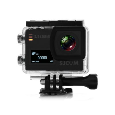 Original SJCAM SJ6 LEGEND 4K WiFi Action CameraAction Cameras<br>Original SJCAM SJ6 LEGEND 4K WiFi Action Camera<br><br>Aerial Photography: Yes<br>Anti-shake: Yes<br>Application: Extreme Sports, Underwater<br>Audio System: Built-in microphone/speaker (AAC)<br>Auto Focusing: No<br>Battery Type: Removable<br>Brand: SJCAM<br>Camera Timer: Yes<br>Capacity: 1000mAh<br>Charge way: AC adapter,Car charger,USB charge by PC<br>Charging Time: About 3H<br>Chipset: Novatek 96660<br>Chipset Name: Novatek<br>Decode Format: H.264<br>Features: Wireless<br>Frequency: 50Hz,60Hz<br>Function: G-sensor, Anti-Shake, Camera Timer<br>G-sensor: Yes<br>Image Format : JPEG<br>Interface Type: AV-Out, HDMI<br>Language: Czech,Danish,English,French,German,Hungarian,Italian,Japanese,Korean,Polski,Portuguese,Russian,Simplified Chinese,Slovak,Spanish,Traditional Chinese<br>Lens Diameter: 17.5mm<br>Max External Card Supported: Micro SD 128G (not included)<br>Microphone: Built-in<br>Model: SJ6 LEGEND<br>Motion Detection: Yes<br>Night vision : No<br>Package Contents: 1 x Action Camera, 1 x Waterproof Housing + Screw + Mount, 1 x Frame, 1 x Protective Backdoor, 2 x Helmet Mount, 2 x Adhesive, 3 x Connector + Screw, 1 x Bicycle Handle Bar Mount, 2 x Base, 1 x Tripod<br>Package size (L x W x H): 27.00 x 14.90 x 8.30 cm / 10.63 x 5.87 x 3.27 inches<br>Package weight: 0.7000 kg<br>Power Supply: 5V 1A<br>Product size (L x W x H): 5.90 x 4.10 x 2.11 cm / 2.32 x 1.61 x 0.83 inches<br>Product weight: 0.0820 kg<br>Screen: Dual Screen<br>Screen resolution: 320x240<br>Screen size: 2.0inch<br>Screen type: LTPS<br>Sensor: CMOS<br>Standby time: About 3 months<br>Time lapse: Yes<br>Type: Sports Camera<br>Type of Camera: 4K<br>Video format: MP4, MOV<br>Video Frame Rate: 60FPS<br>Video Resolution: 1080P(30fps),1080P(60fps),2K (30fps),4K (24fps),720P (120fps),720P (30fps),720P (60fps),VGA (240fps)<br>Waterproof: Yes<br>Waterproof Rating : IP68<br>Wide Angle: 166 degree wide angle lens<br>WIFI: Yes<br>WiFi Distance : Within 10M<br>Working Time: 110 minutes