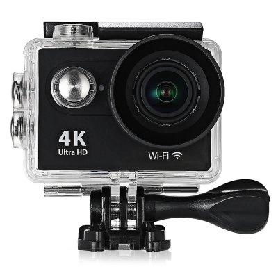 H9 Ultra HD 4K Action CameraAction Cameras<br>H9 Ultra HD 4K Action Camera<br><br>Aerial Photography: No<br>Anti-shake: No<br>Auto Focusing: No<br>Battery Type: Removable<br>Camera Pixel : 4.0 megapixel<br>Camera Timer: No<br>Capacity: 1050mAh<br>Charge way: USB charge by PC<br>Chipset: Sunplus 6350<br>Chipset Name: Sunplus<br>Class Rating Requirements: Class 10 or Above<br>Decode Format: H.264<br>Exposure Compensation: +0.3,+0.7,+1,+1.3,+1.7,+2,-0.3,-0.7,-1,-1.3,-1.7,-2,0<br>Frequency: 50Hz,60Hz,Auto<br>HDMI Output: Yes<br>Image Format : JPEG<br>Language: Cesky,Dutch,English,French,German,Italian,Japanese,Korean,Polski,Portuguese,Russian,Spanish,Thai,Traditional Chinese,Turkish<br>Loop-cycle Recording : Yes<br>Loop-cycle Recording Time: 15min,OFF<br>Max External Card Supported: TF 64G (not included)<br>Microphone: N/A<br>Model: H9<br>Night vision : No<br>Package Contents: 1 x H9 4K Action Camera, 1 x Waterproof Housing, 1 x Handlebar Pole Mount, 1 x Base Mount with Long Screw, 1 x J-Shaped Mount, 1 x Tripod Mount Adapter, 3 x Connector with Screw, 1 x Mount Adapter, 1<br>Package size (L x W x H): 27.00 x 18.00 x 7.00 cm / 10.63 x 7.09 x 2.76 inches<br>Package weight: 0.5700 kg<br>Product size (L x W x H): 6.00 x 3.20 x 4.10 cm / 2.36 x 1.26 x 1.61 inches<br>Product weight: 0.0650 kg<br>Scene: Auto<br>Screen resolution: 320x240<br>Screen size: 2.0inch<br>Screen type: LCD<br>Time lapse: Yes<br>Time Stamp: Yes<br>Type: Sports Camera<br>Video format: MOV<br>Video Output : HDMI<br>Video Resolution: 1080P (1920 x 1080),2.7K (2704 x 1524),4K (4096 x 2160)<br>Water Resistant: 30m underwater<br>Waterproof: Yes<br>White Balance Mode: Auto<br>Wide Angle: 170 degree wide angle<br>WIFI: Yes<br>WiFi Distance : 10m<br>WiFi Function: Image Transmission,Remote Control,Settings,Sync and Sharing Albums<br>Working Time: 1.5 hours (1080P at 30fps), 1 hour (1080P at 60fps), 40 minutes (4K at 10fps)
