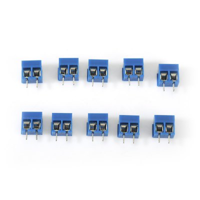 10PCS 2 Pin 5.0mm Terminal Blocks Connector for DIY