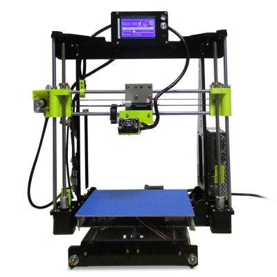 Prusa I3 3D Printer3D Printers, 3D Printer Kits<br>Prusa I3 3D Printer<br><br>Engraving Area: 210 x 210 x 210mm<br>File format: G-code, STL, OBJ<br>Frame material: Acrylic plate<br>Language: Chinese,English<br>Layer thickness: 0.1-0.4mm<br>Material diameter: 1.75mm<br>Model: Prusa I3<br>Nozzle diameter: 0.4mm<br>Nozzle temperature: Room temperature to 260 degree<br>Package size: 50.00 x 32.00 x 19.00 cm / 19.69 x 12.6 x 7.48 inches<br>Package weight: 9.5000 kg<br>Packing Contents: 1 x Prusa I3 Desktop LCD 3D Printer, 1 x 0.5kg PLA Material<br>Product size: 48.00 x 30.00 x 18.00 cm / 18.9 x 11.81 x 7.09 inches<br>Product weight: 9.4000 kg<br>Supporting material: PLA, ABS<br>Type: DIY<br>Voltage: 100V/240V<br>Working Power: 250W<br>XY-axis positioning accuracy: 0.012mm<br>Z-axis positioning accuracy: 0.004mm
