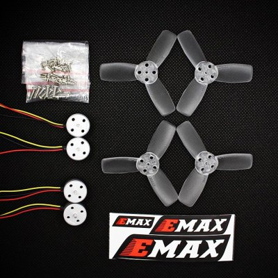 EMAX RS1104 5250KV Mini Brushless Motor SetMotor<br>EMAX RS1104 5250KV Mini Brushless Motor Set<br><br>Brand: EMAX<br>CW / CCW: CCW,CW<br>KV: 5250<br>Maximum Thrust: 116 - 120g ( using 2S LiPo and T2345BN propeller )<br>Model: RS1104<br>Motor Type: Brushless Motor<br>No. of Cells: 1 - 2S LiPo<br>Package Contents: 4 x Motor, 2 x Pairs of Propellers, 1 x Set of Screws, 1 x Sticker<br>Package size (L x W x H): 18.00 x 10.00 x 4.00 cm / 7.09 x 3.94 x 1.57 inches<br>Package weight: 0.0850 kg<br>Stator Diameter: 11mm<br>Stator Length: 4mm<br>Type: Propeller, Motor Set