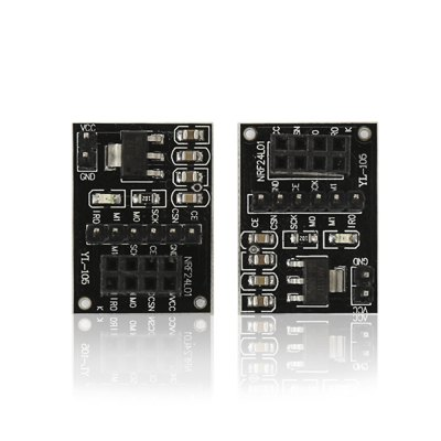 2PCS NRF24L01 + Wireless Module Socket Adapter Plate Board