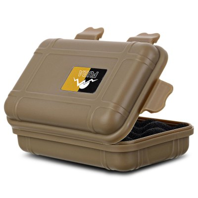 FURA Sealed Storage CaseOther Camping Gadgets<br>FURA Sealed Storage Case<br><br>Brand: FURA<br>Color: Khaki,Orange<br>Package Contents: 1 x FURA Storage Case, 1 x Sticking Paper<br>Package Size(L x W x H): 15.00 x 11.00 x 6.00 cm / 5.91 x 4.33 x 2.36 inches<br>Package weight: 0.088 kg<br>Product Size  ( L x W x H ): 13.70 x 8.00 x 4.00 cm / 5.39 x 3.15 x 1.57 inches<br>Product weight: 0.057 kg<br>Type: Other Camping Gear