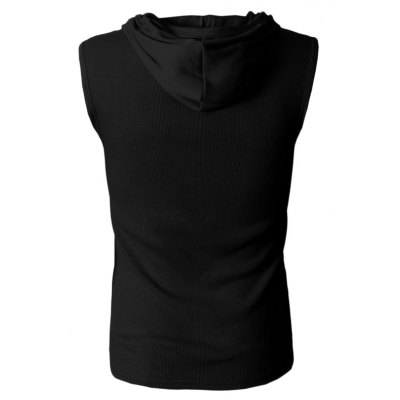 Hooded Sleeveless T ShirtMens Short Sleeve Tees<br>Hooded Sleeveless T Shirt<br><br>Material: Cotton<br>Neckline: V-Neck<br>Package Content: 1 x Sleeveless T Shirt<br>Package size: 35.00 x 20.00 x 2.00 cm / 13.78 x 7.87 x 0.79 inches<br>Package weight: 0.2300 kg<br>Pattern Type: Solid<br>Product weight: 0.1800 kg<br>Season: Summer<br>Size: L,M,XXL,XXXL<br>Sleeve Length: Sleeveless<br>Style: Casual
