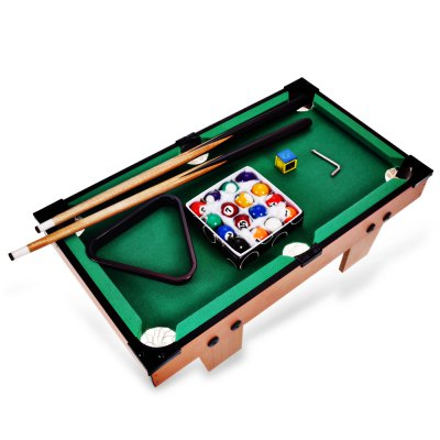 Mini Pool Set Billiard Ball Table Game Children Toy  -  COLORMIX