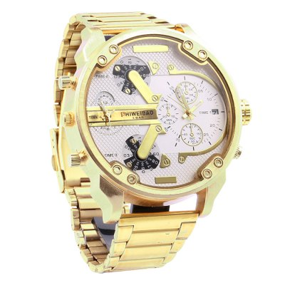 Shiweibao A3137 Men Quartz WatchMens Watches<br>Shiweibao A3137 Men Quartz Watch<br><br>Brand: Shiweibao<br>Watches categories: Male table<br>Watch style: Fashion<br>Available Color: Black,White<br>Movement type: Double-movtz<br>Shape of the dial: Round<br>Display type: Analog<br>Case material: Stainless Steel<br>Band material: Stainless Steel<br>Clasp type: Folding clasp with safety<br>Special features: Date,Decorating small sub-dials<br>The dial thickness: 1.5 cm / 0.59 inches<br>The dial diameter: 5.7 cm / 2.24 inches<br>The band width: 2.2 cm / 0.87 inches<br>Product weight: 0.1500 kg<br>Package weight: 0.2000 kg<br>Product size (L x W x H): 20.00 x 5.70 x 1.50 cm / 7.87 x 2.24 x 0.59 inches<br>Package size (L x W x H): 21.00 x 6.70 x 2.50 cm / 8.27 x 2.64 x 0.98 inches<br>Package Contents: 1 x Shiweibao A3137 Watch